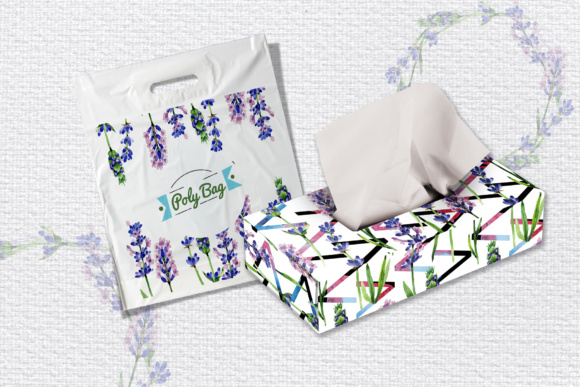 Print on Demand: Holiday Purple Lavender Flowers PNG Watercolor Set Graphic Illustrations By MyStocks - Image 6