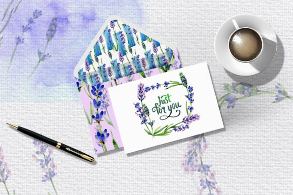 Print on Demand: Holiday Purple Lavender Flowers PNG Watercolor Set Graphic Illustrations By MyStocks - Image 7