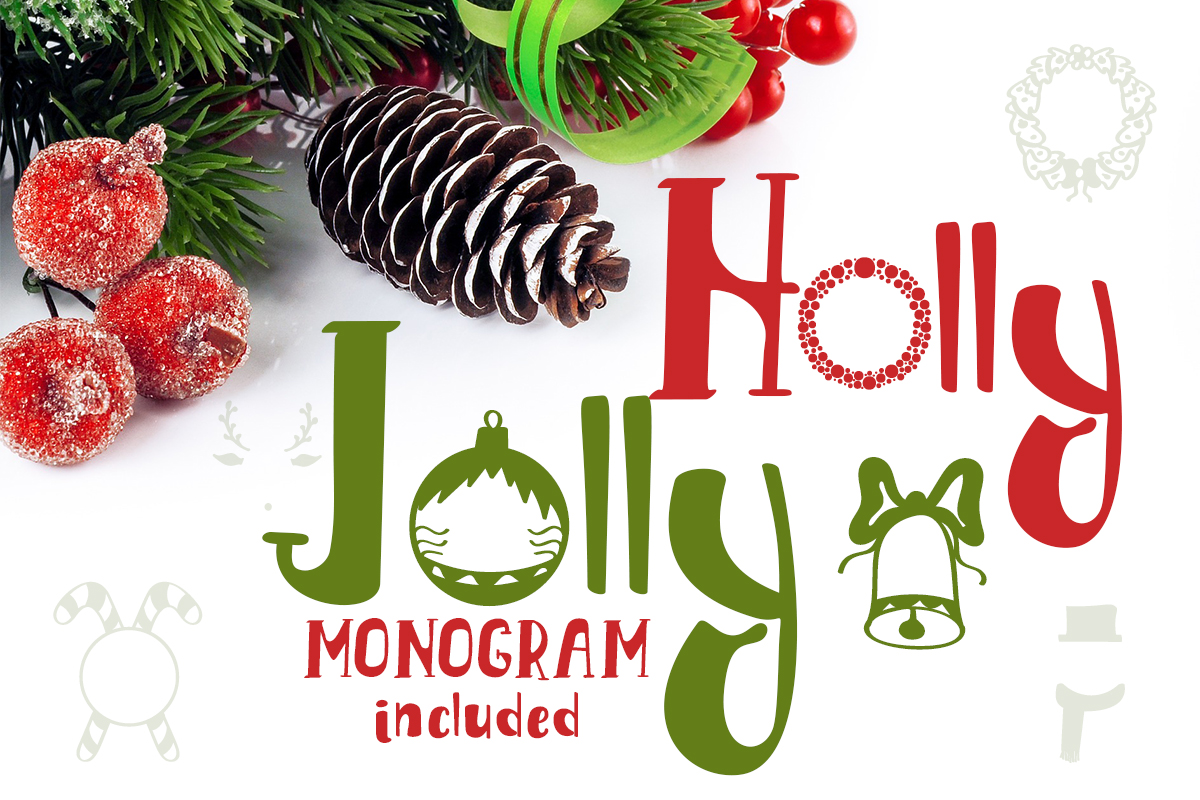 Holly Jolly Font By Lickable Pixels Creative Fabrica