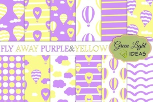 Hot Air Balloons Digital Papers Graphic By GreenLightIdeas