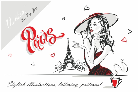 I Love Paris. Graphic Illustrations By grigaola