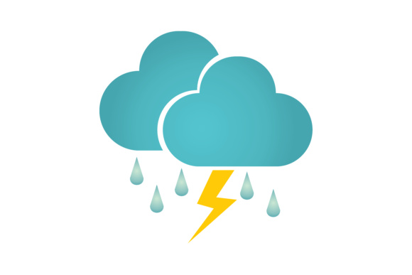 Download Free Icon Weather Lightning Rain Clouds Graphic By Leisureprojects SVG Cut Files