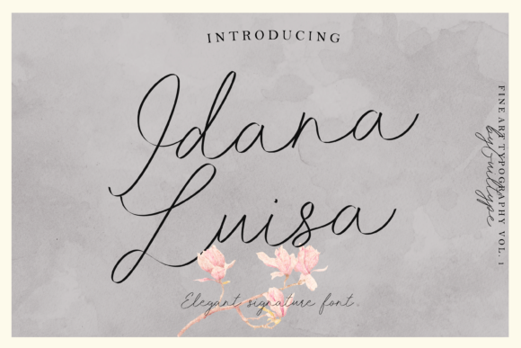 Print on Demand: Idana Luisa Script & Handwritten Font By GUILTYPE