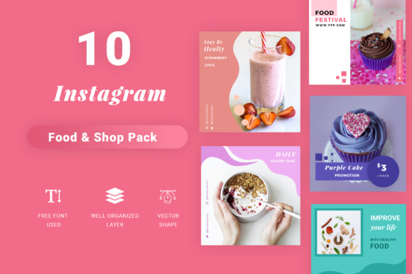 Instagram Social Media Pack Graphic Websites By TMint - Image 1
