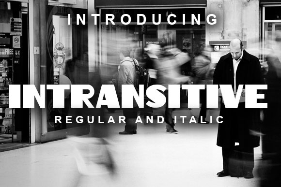Print on Demand: Intransitive Display Font By vladimirnikolic