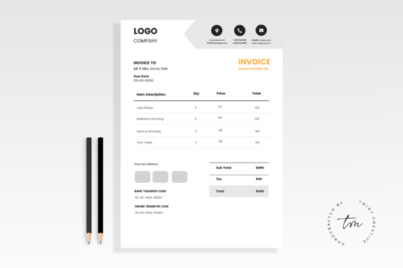 Invoice Template Graphic Print Templates By TMint