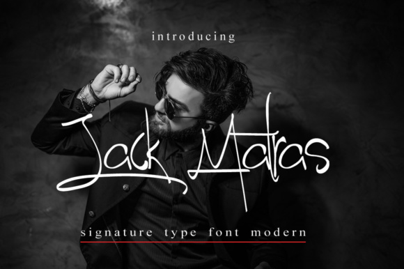 Print on Demand: Jack Matras Script & Handwritten Font By jehansyah251