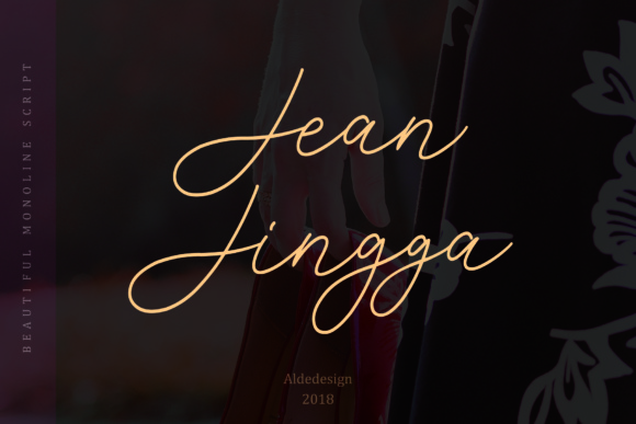 Print on Demand: Jean Jingga Script & Handwritten Font By aldedesign