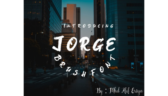 Print on Demand: Jorge Script & Handwritten Font By Muhammad Ersya