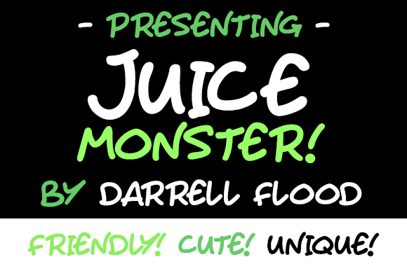 Print on Demand: Juice Monster Script & Handwritten Font By Dadiomouse