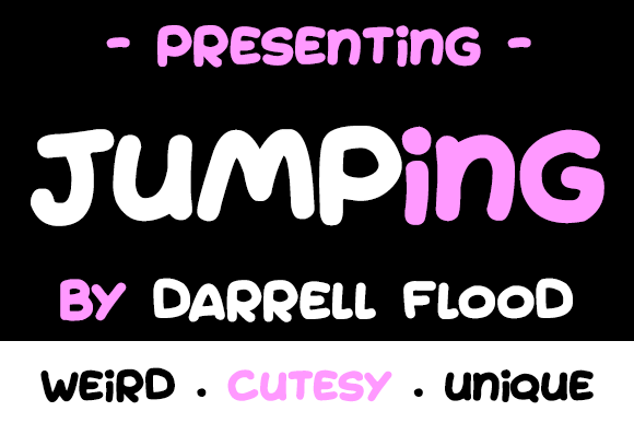 Print on Demand: Jumping Script & Handwritten Font By Dadiomouse