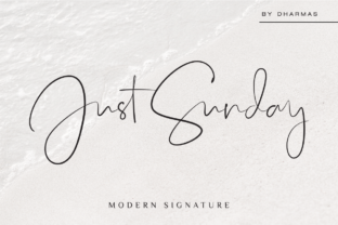 Download Free Just Sunday Font By Dharmas Creative Fabrica for Cricut Explore, Silhouette and other cutting machines.