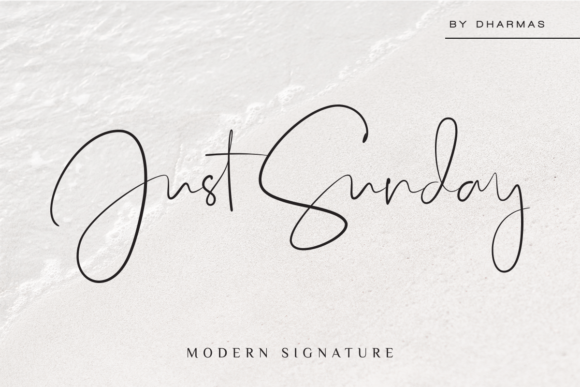 Print on Demand: Just Sunday Script & Handwritten Font By dharmas