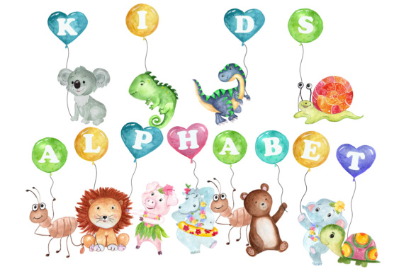 Kids Alphabet Clipart Graphic Illustrations By vivastarkids