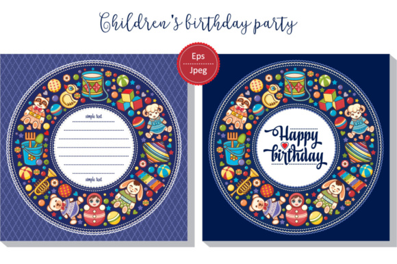 Download Free Kid S Birthday Party Invitation Graphic By Zoyali Creative Fabrica for Cricut Explore, Silhouette and other cutting machines.