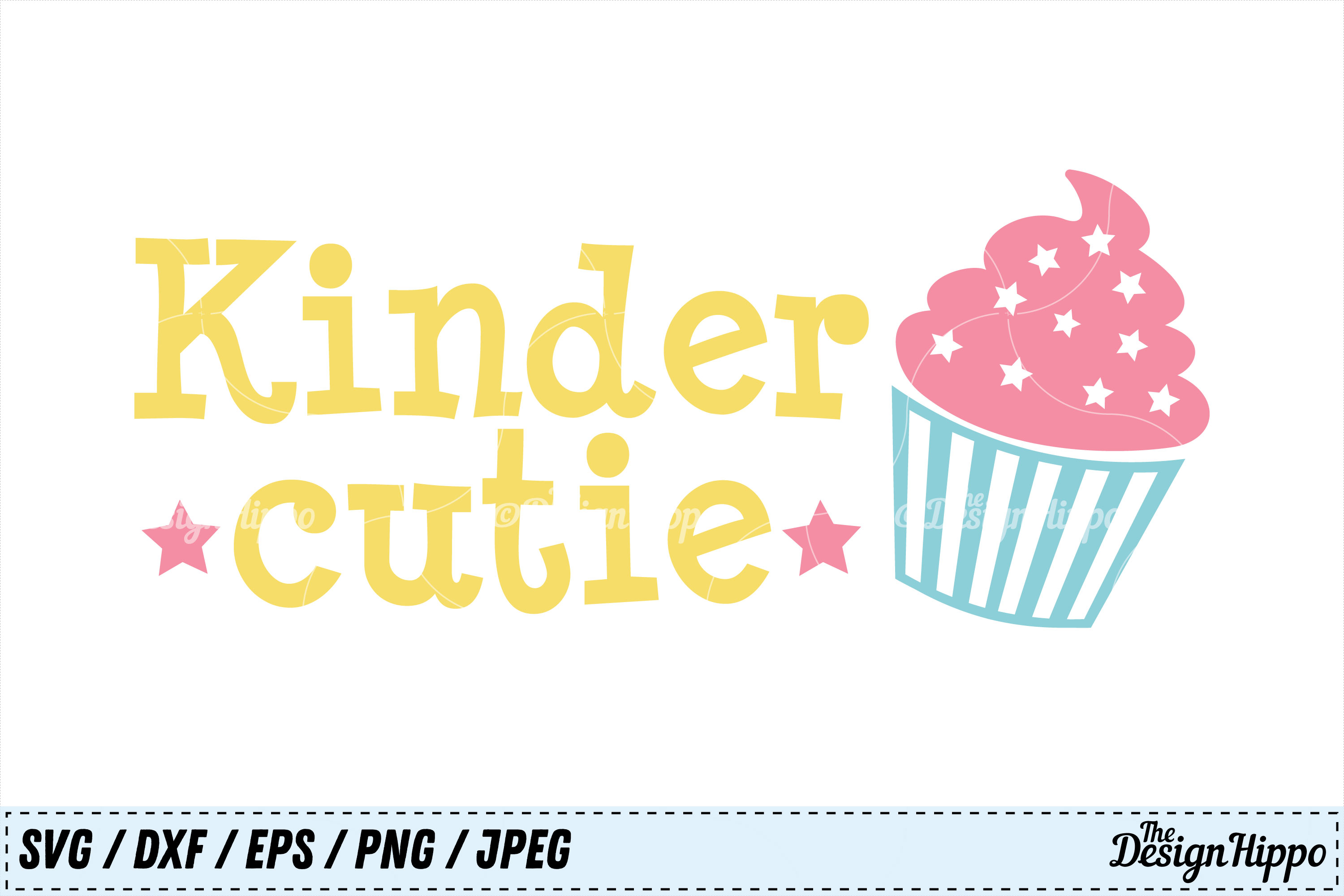 Download Free Kinder Cutie Graphic By Thedesignhippo Creative Fabrica for Cricut Explore, Silhouette and other cutting machines.
