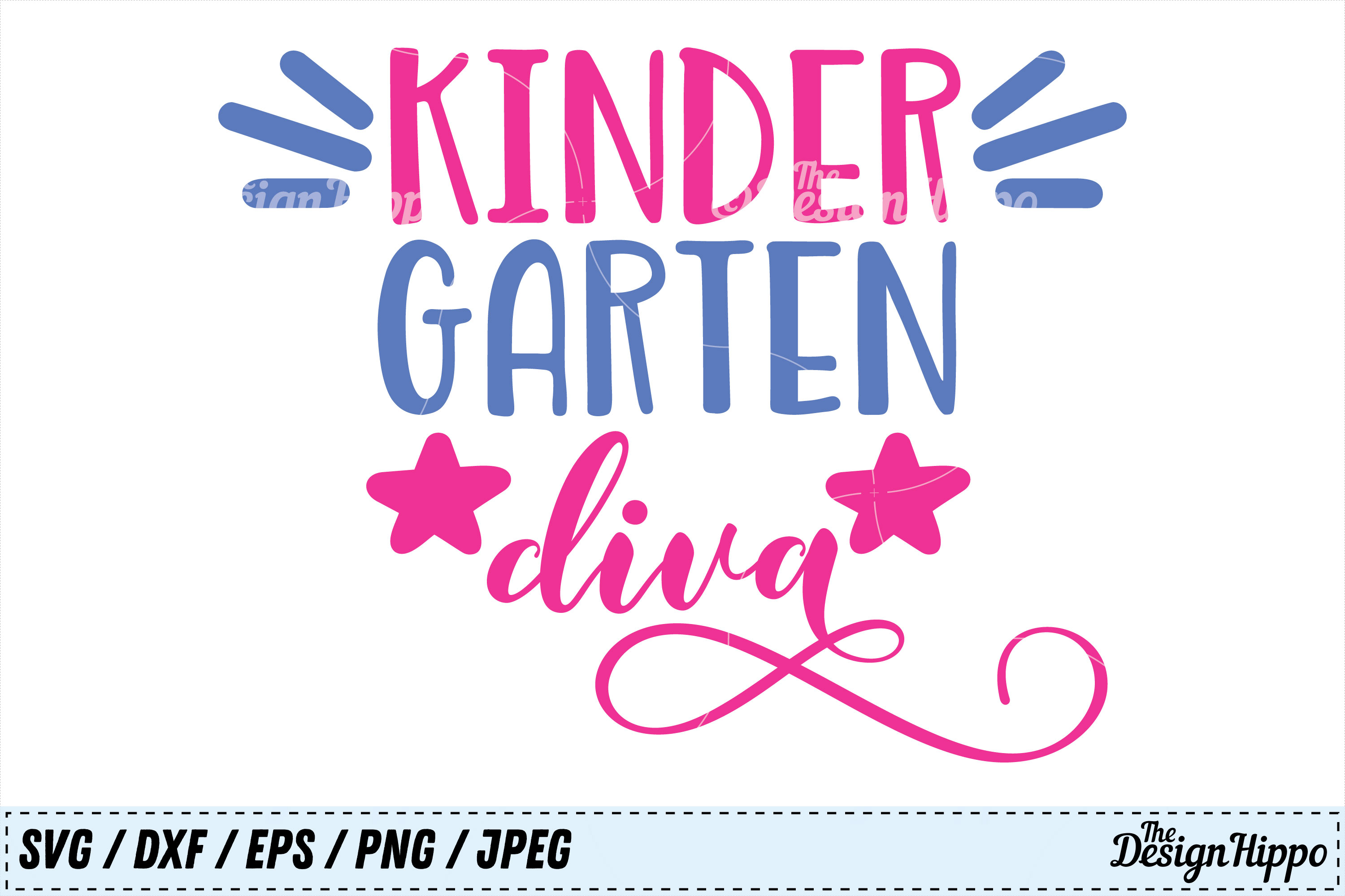 Download Free Kindergarten Diva Graphic By Thedesignhippo Creative Fabrica for Cricut Explore, Silhouette and other cutting machines.