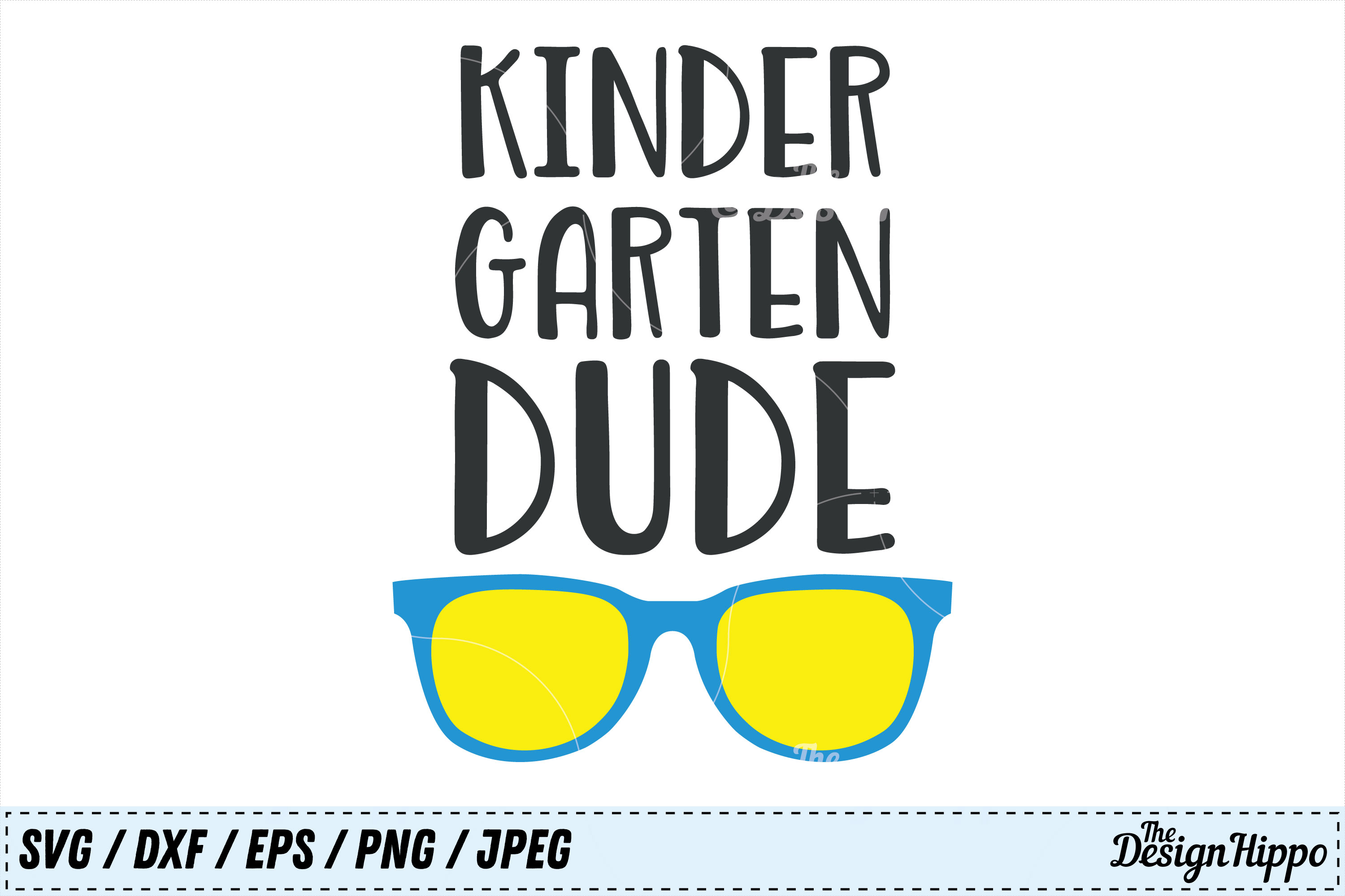 Download Free Kindergarten Dude Cut File Graphic By Thedesignhippo Creative for Cricut Explore, Silhouette and other cutting machines.