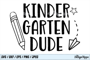 Download Free Kindergarten Dude Graphic By Thedesignhippo Creative Fabrica for Cricut Explore, Silhouette and other cutting machines.