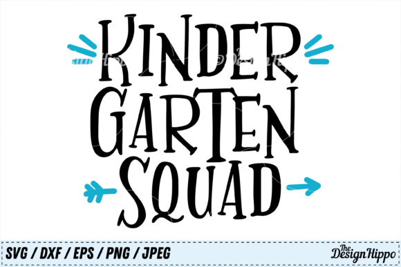 Download Free Kindergarten Squad Graphic By Thedesignhippo Creative Fabrica for Cricut Explore, Silhouette and other cutting machines.