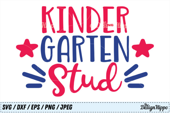 Kindergarten Stud SVG Graphic Crafts By thedesignhippo