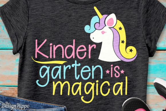 Download Free Kindergarten Is Magical Unicorn Svg Graphic By Thedesignhippo for Cricut Explore, Silhouette and other cutting machines.