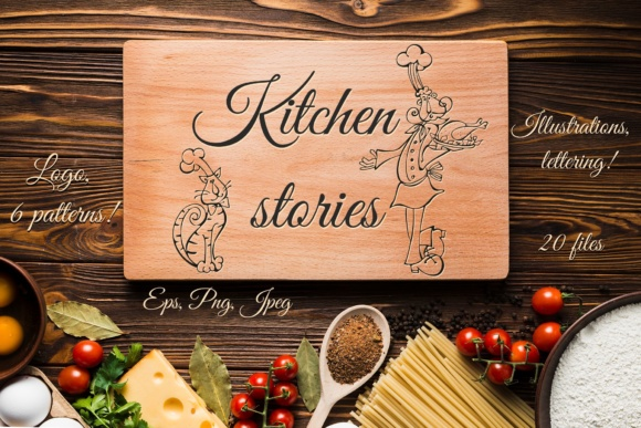 Kitchen Stories Graphic Illustrations By grigaola