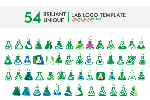 Lab Logo Set Graphic Logos By Ndroadv - Image 1