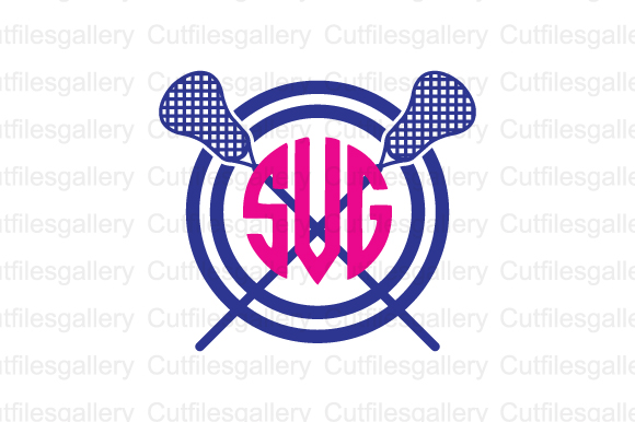 Download Free Lacrosse Monogram Graphic By Cutfilesgallery Creative Fabrica SVG Cut Files