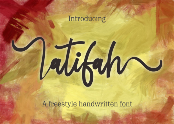 Print on Demand: Latifah Script & Handwritten Font By alifquentin