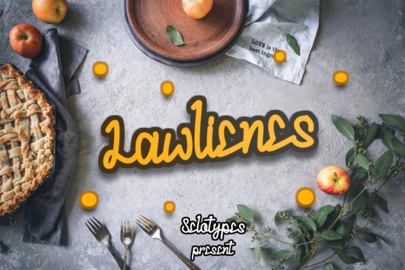 Lawlienes Font By sinoaburame41 Image 1