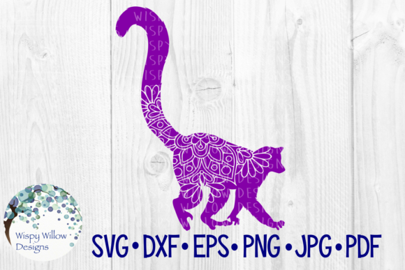 Download Free Lemur Floral Animal Mandala Graphic By Wispywillowdesigns SVG Cut Files