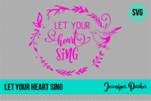 Download Free Let Your Heart Sing Bird Wreath Svg Graphic By Jooniper Parker Creative Fabrica for Cricut Explore, Silhouette and other cutting machines.