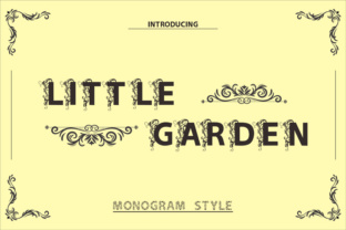 Print on Demand: Little Garden Display Font By ed.creative
