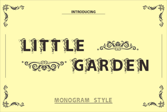 Little Garden Display Font By ed.creative