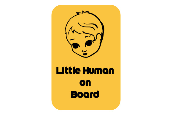 Little Human on Board Family Car Craft Cut File By Creative Fabrica Crafts