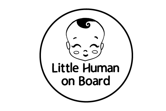 Little Human on Board Family Car Craft Cut File By Creative Fabrica Crafts - Image 2