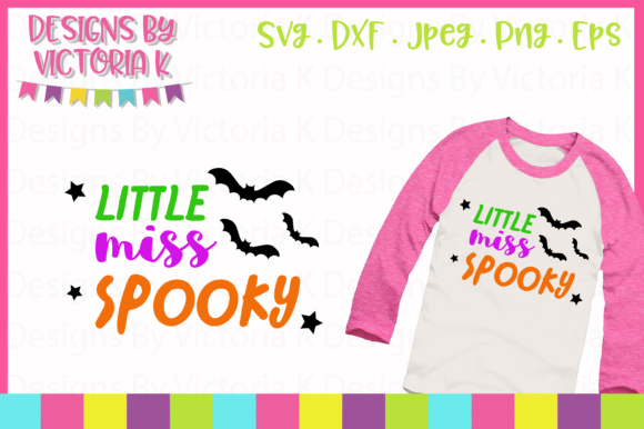 Little Miss Spooky SVG Graphic Crafts By Designs By Victoria K