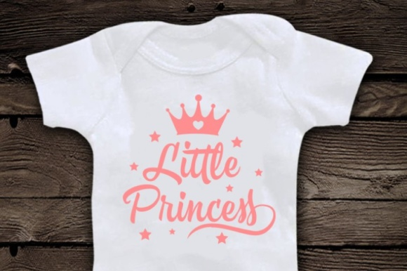 Download Free Little Princess Cute Svg Graphic By Blackcatsmedia Creative for Cricut Explore, Silhouette and other cutting machines.