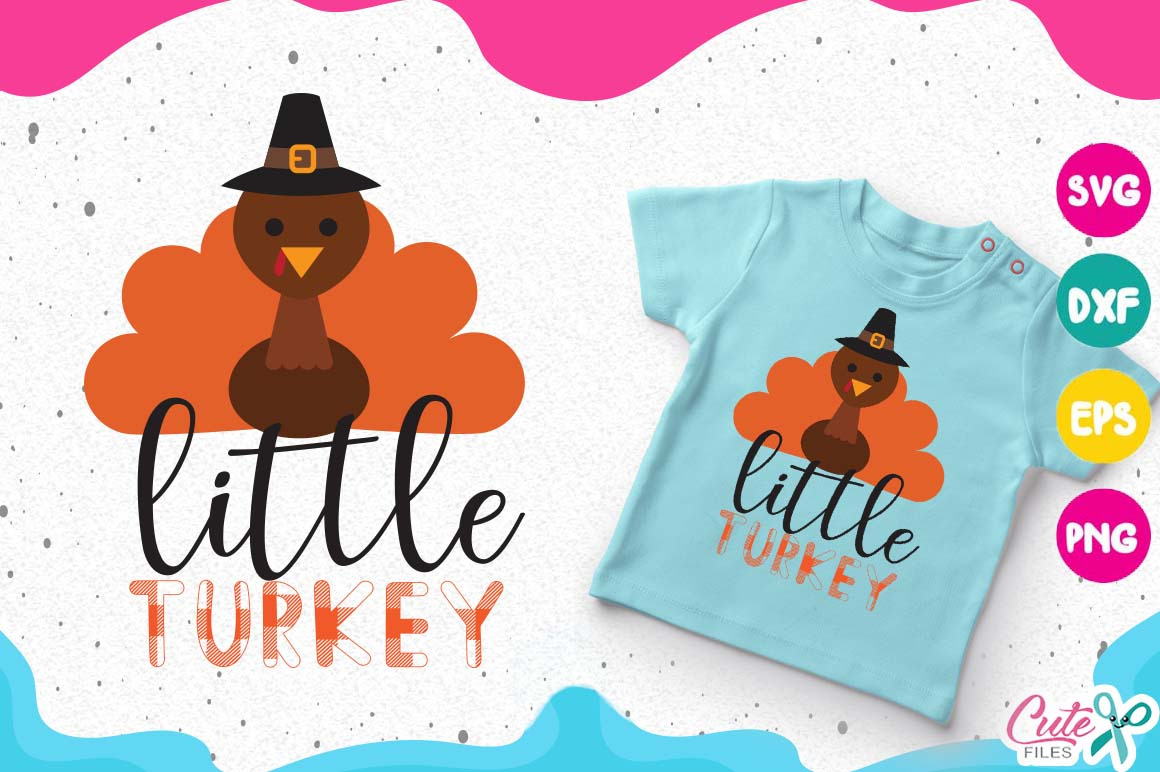 Little Turkey Thanksgiving Svg Buffalo Plaid Svg Graphic By