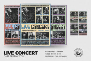 Live Concert Flyer Template V10 Graphic By ThatsDesignStore