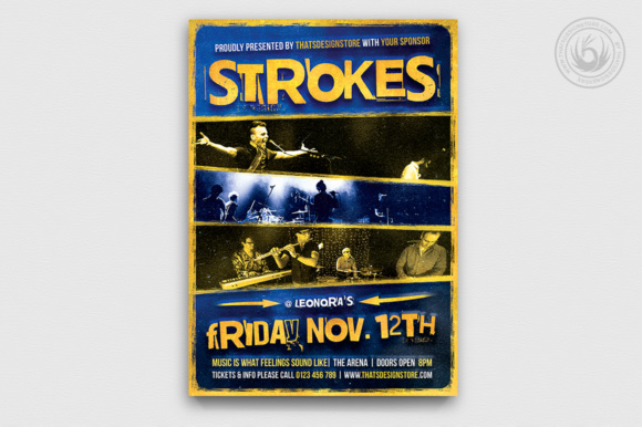 Live Concert Flyer Template V11 Graphic Print Templates By ThatsDesignStore