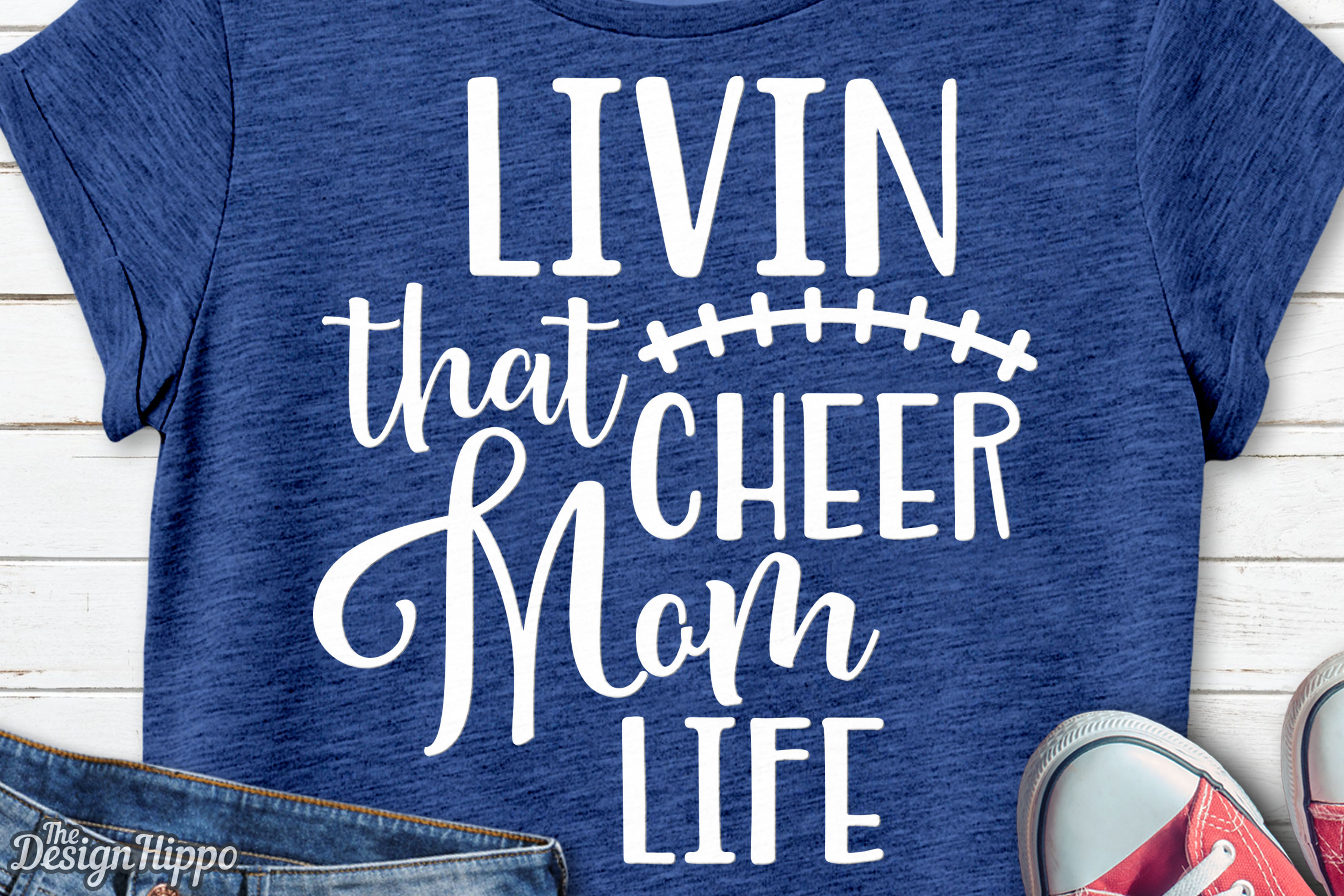 Download Free Livin That Cheer Mom Life Svg Graphic By Thedesignhippo for Cricut Explore, Silhouette and other cutting machines.