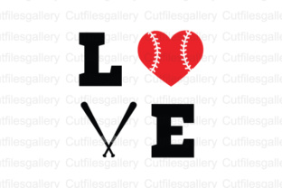 Download Free Love Baseball Graphic By Cutfilesgallery Creative Fabrica for Cricut Explore, Silhouette and other cutting machines.