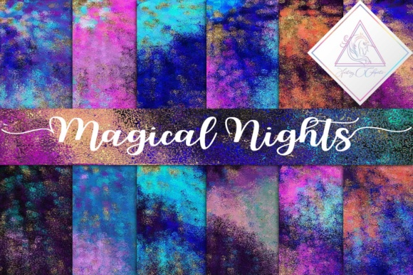 Print on Demand: Magical Nights Digital Paper Graphic Textures By fantasycliparts
