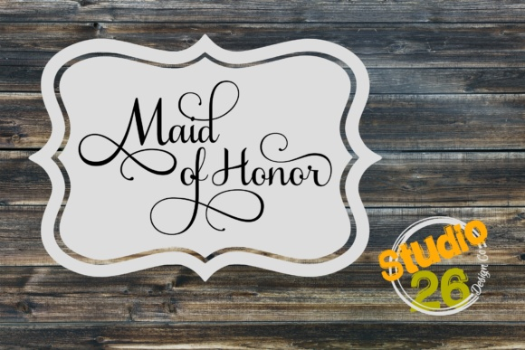 Download Free Maid Of Honor Svg Graphic By Studio 26 Design Co Creative Fabrica for Cricut Explore, Silhouette and other cutting machines.