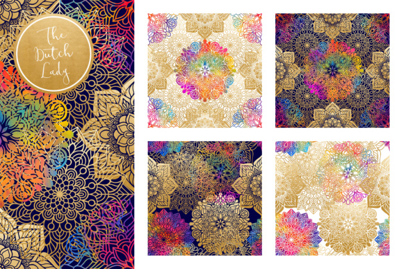 Print on Demand: Mandala Pattern Scrapbook Papers Graphic Patterns By daphnepopuliers - Image 2