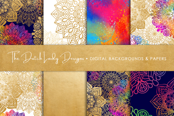 Print on Demand: Mandala Pattern Scrapbook Papers Graphic Patterns By daphnepopuliers