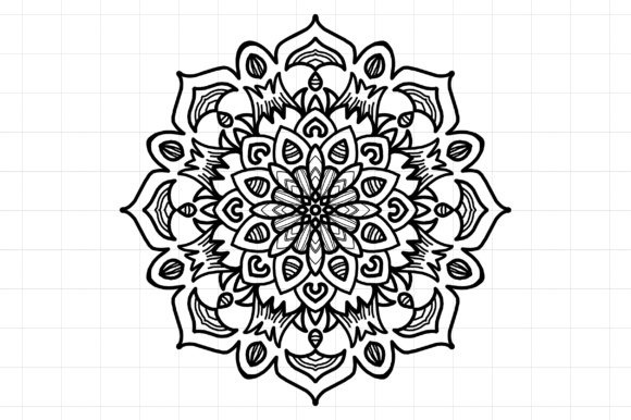Download Free Mandala Graphic By Etnik Mana Creative Fabrica for Cricut Explore, Silhouette and other cutting machines.