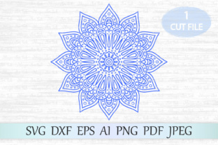 Download Free Mandala Graphic By Magicartlab Creative Fabrica for Cricut Explore, Silhouette and other cutting machines.